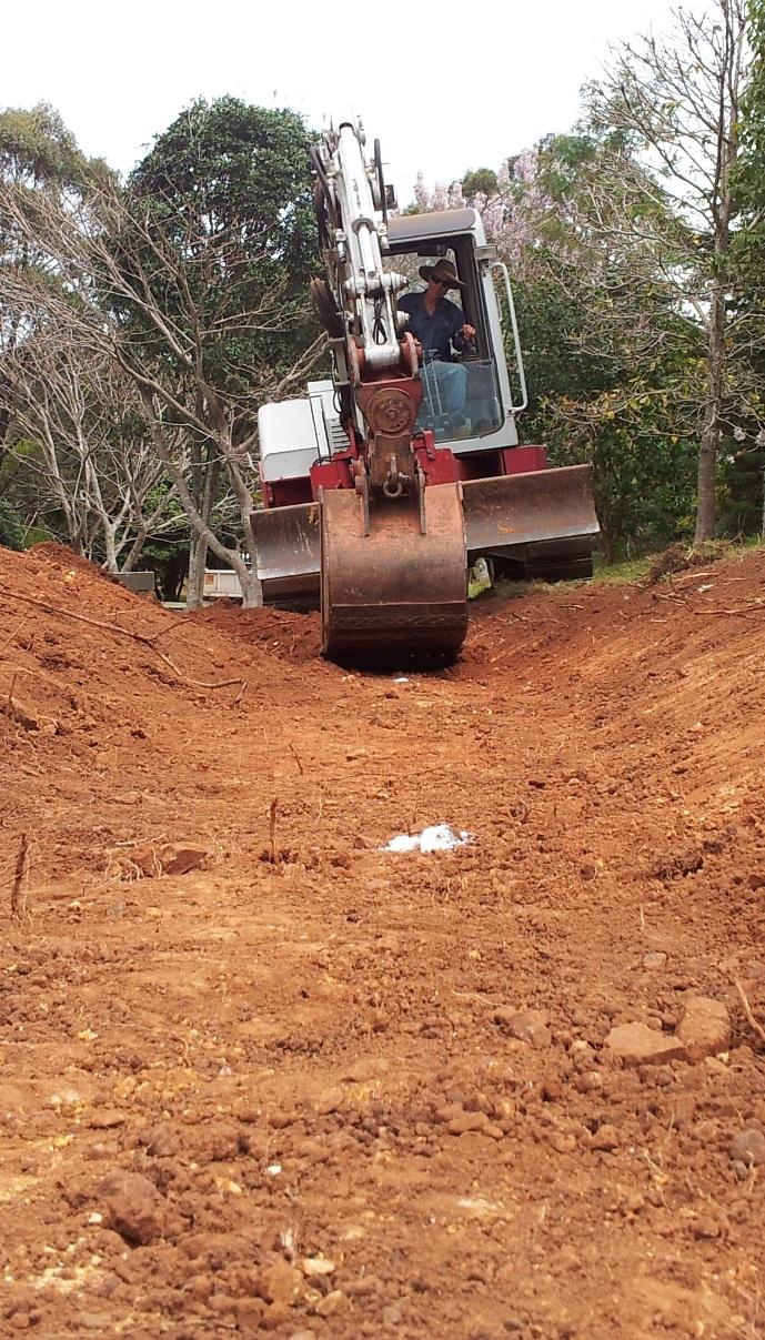 Rob excavator front course